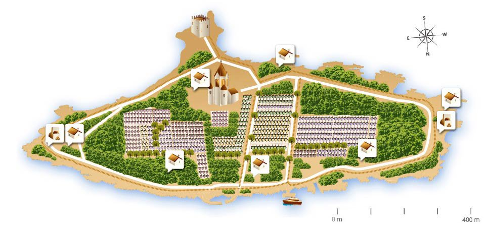 Ile Saint Honorat, Plan historique religieux